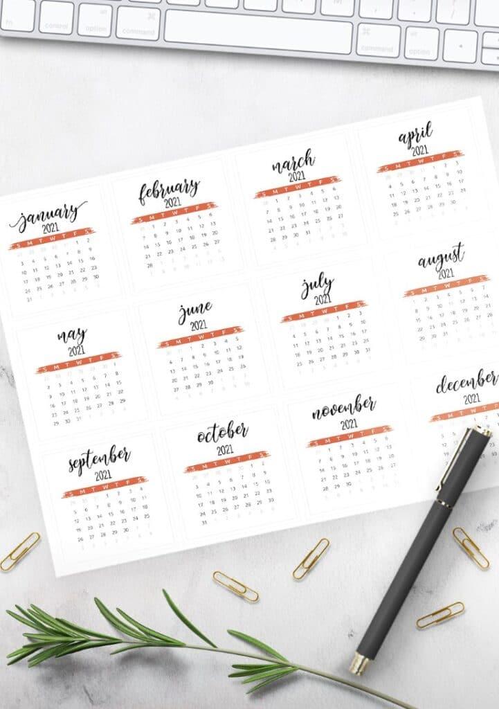 Free Printable Calendar 2021 - calendar 22 mockup 2
