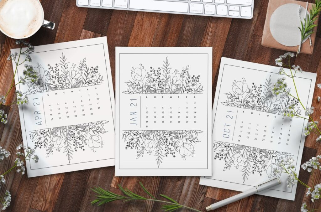 Free Printable Calendar 2021 - calendar 23 mockup 1