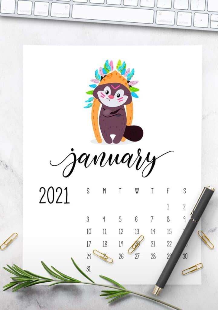 Free Printable Calendar 2021 - calendar 37 mockup 2