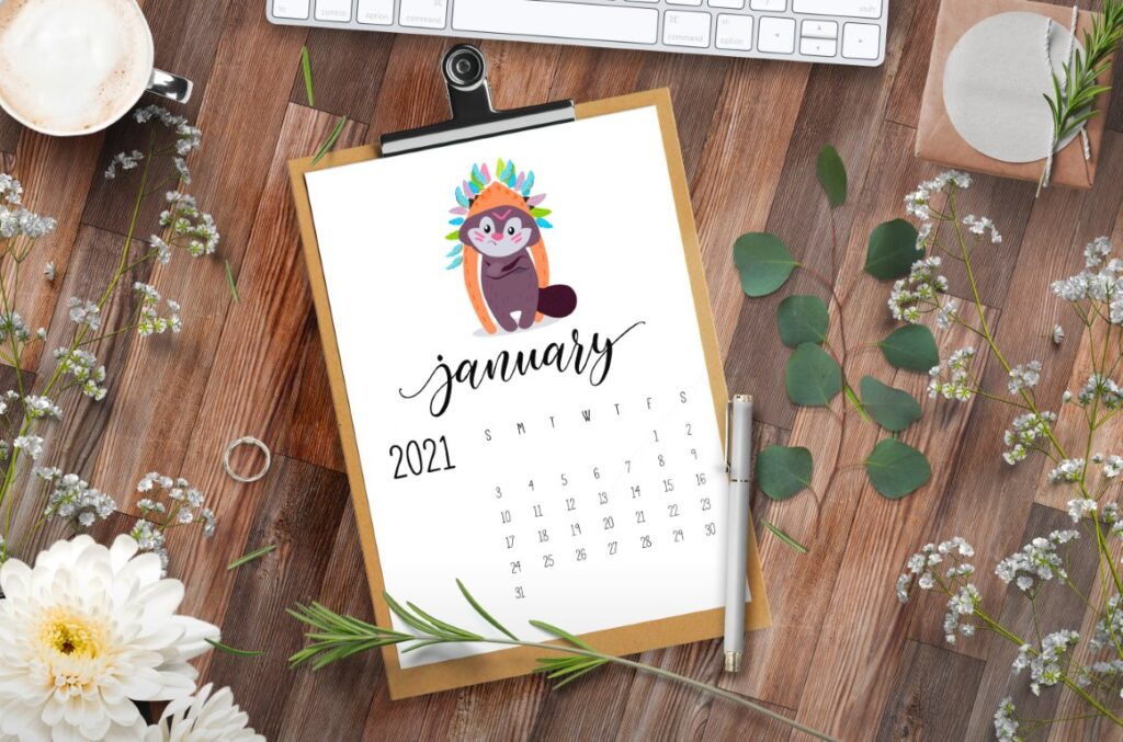 Free Printable Calendar 2021 - calendar 37 mockup 3
