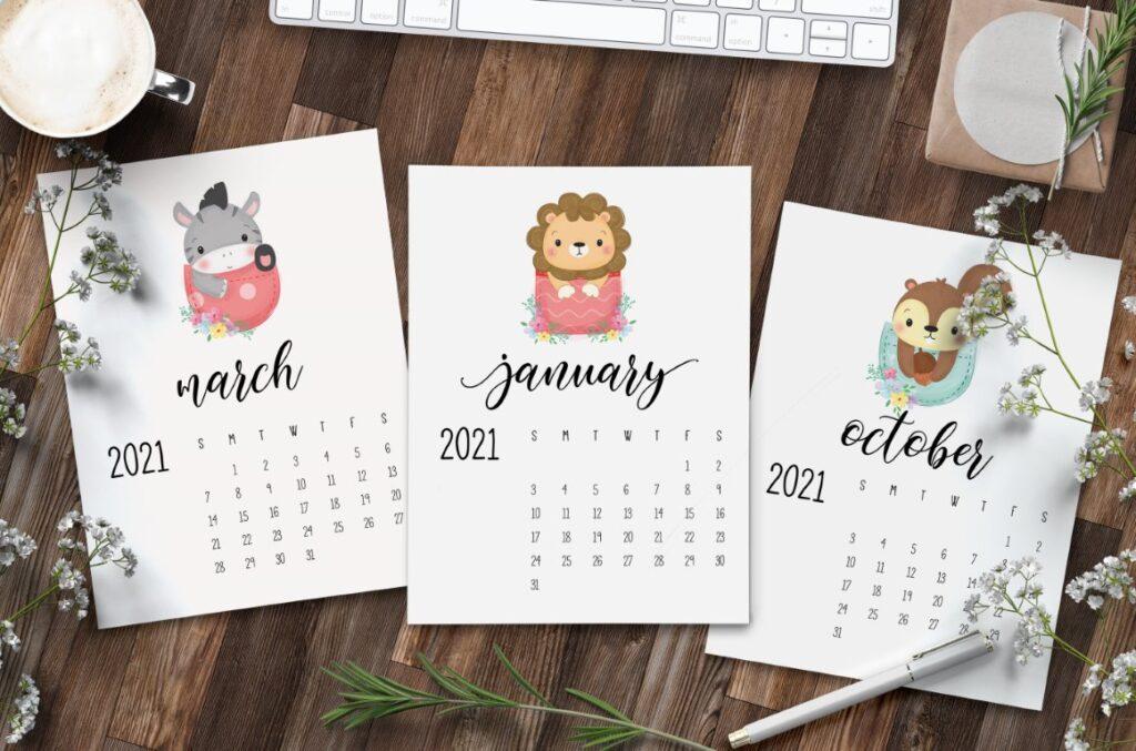 Free Printable Calendar 2021 - calendar 38 mockup 1