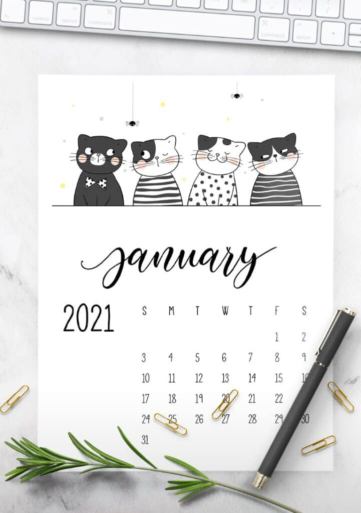 Free Printable Calendar 2021 - calendar 40 mockup 2