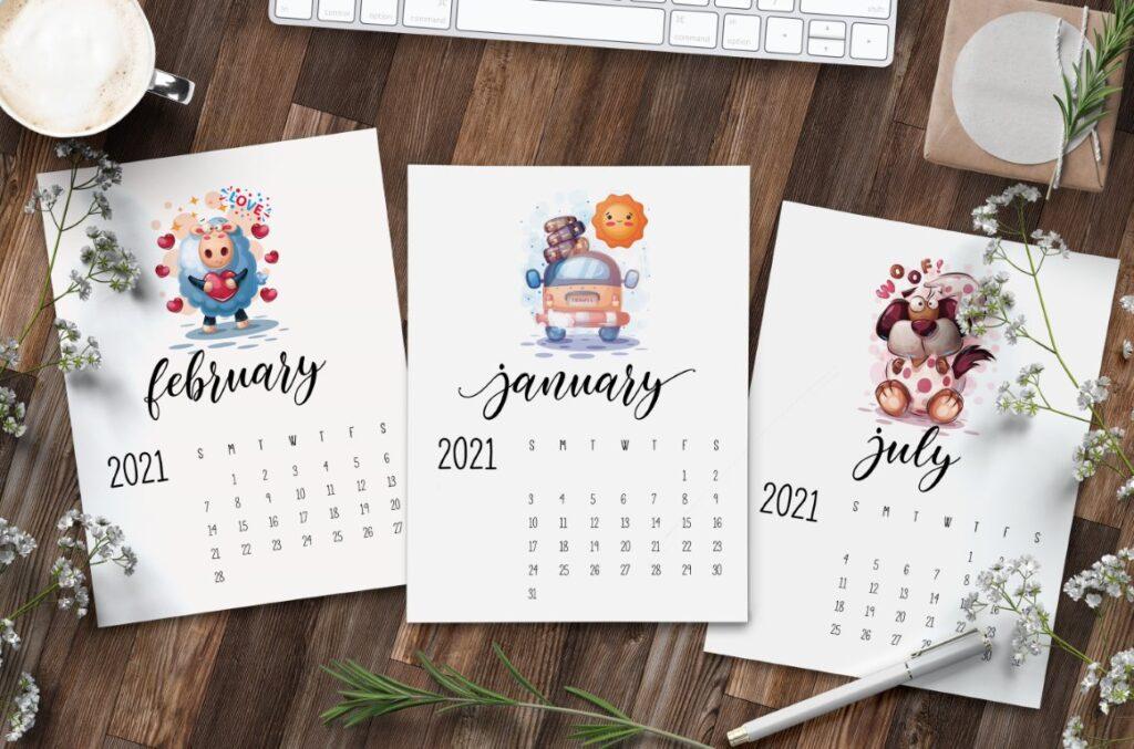 Free Printable Calendar 2021 - calendar 43 mockup 1