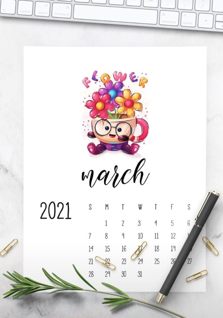 Cutest Happy Animals Calendar 2021