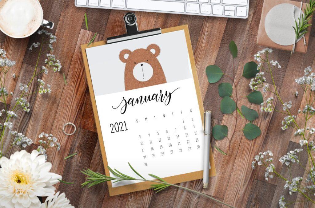 Free Printable Calendar 2021 - calendar 45 mockup 3
