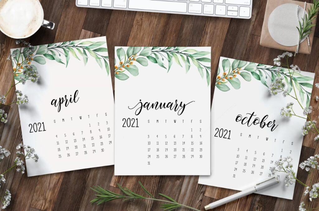 Free Printable Calendar 2021 - calendar 49 mockup 1
