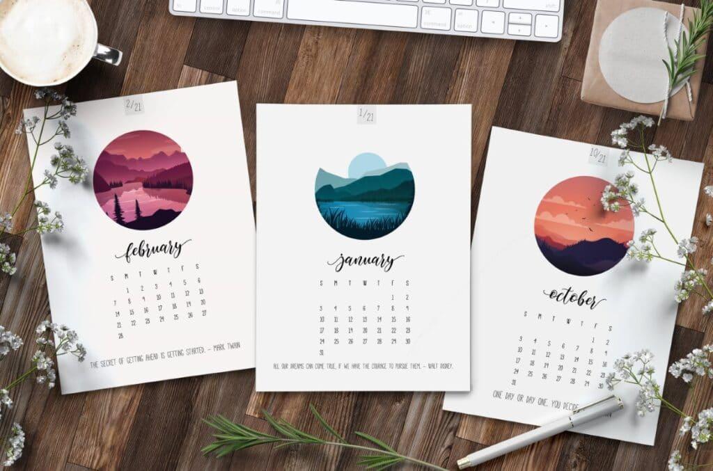 Scenic 2021 Calendar Printable