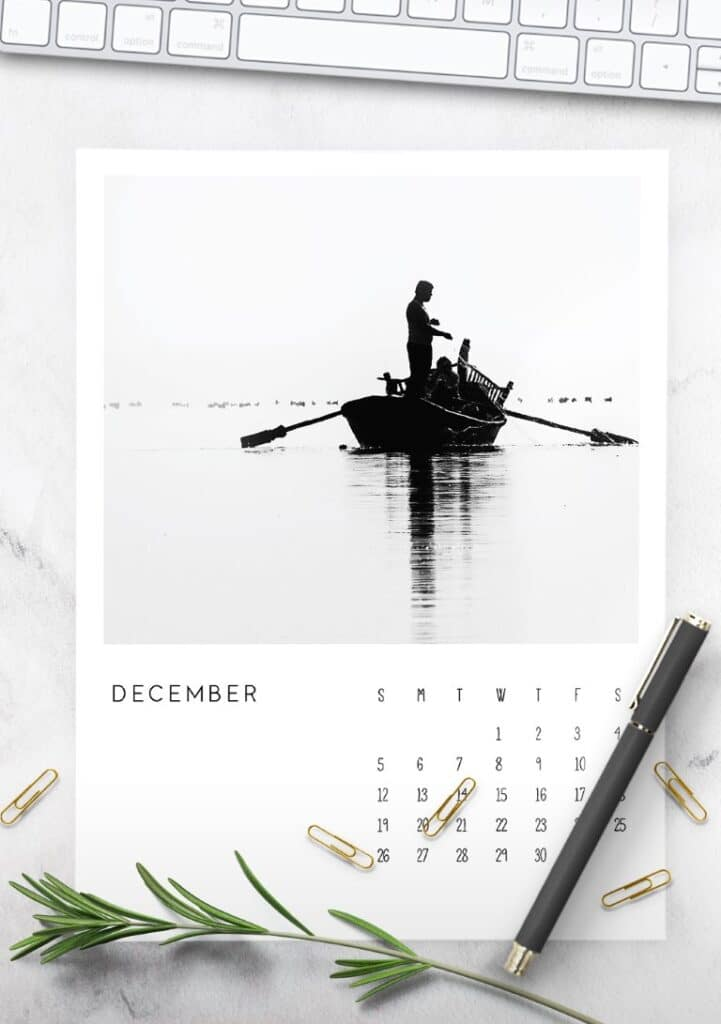 2021 Calendar Black and White Photography