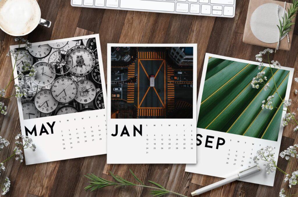 Free Printable Creative Photo Calendar