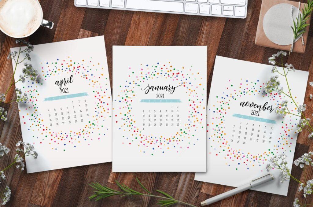 Free Printable Calendar 2021 - calendar 6 mockup 1