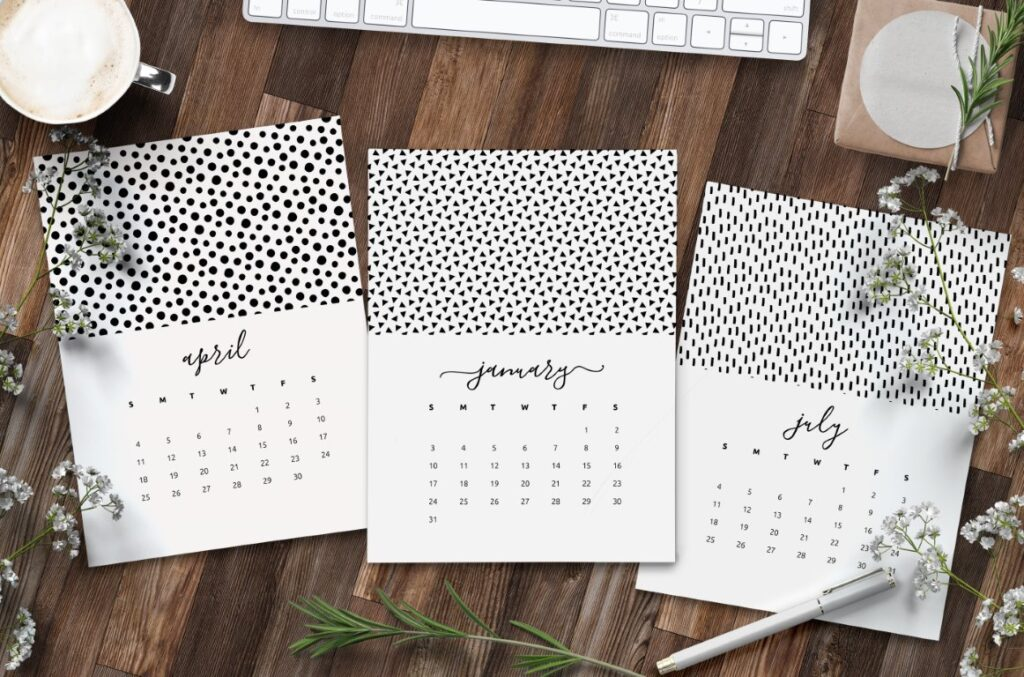 Free Printable 2021 Calendar Patterns