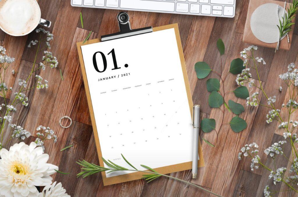 Free Printable Calendar 2021 - calendar 65 mockup 3