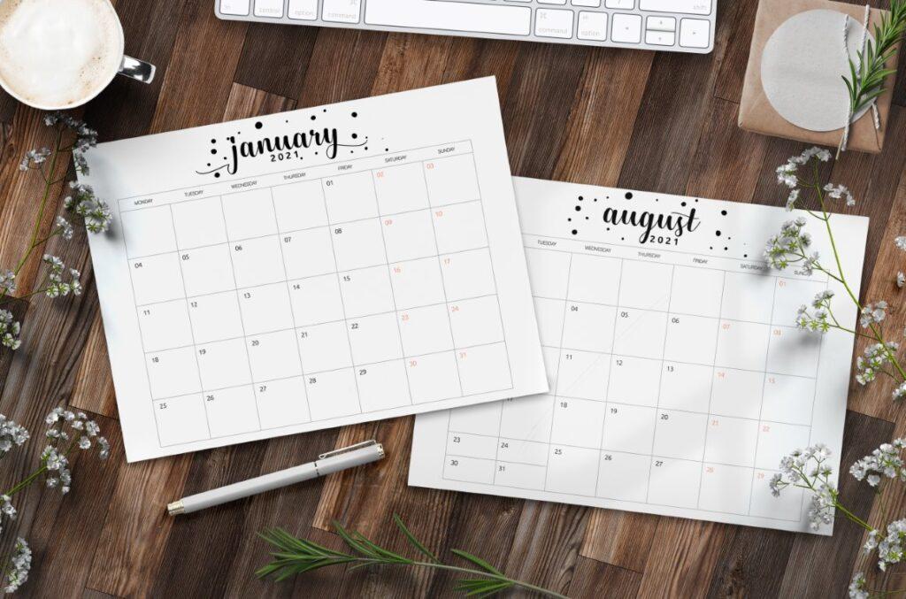 Free Printable Calendar 2021 - calendar 67 mockup 1