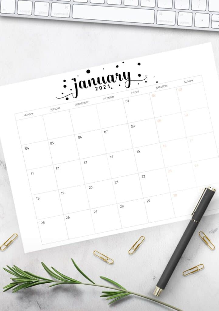 Free Printable Calendar 2021 - calendar 67 mockup 2