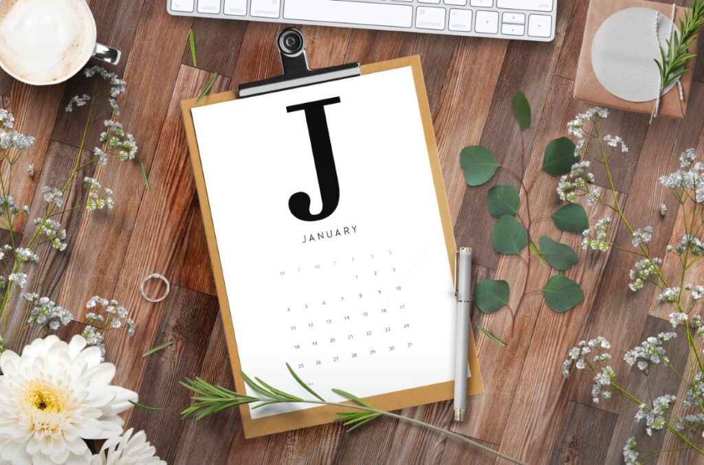 Free Alphabetical 2021 Calendar Printable