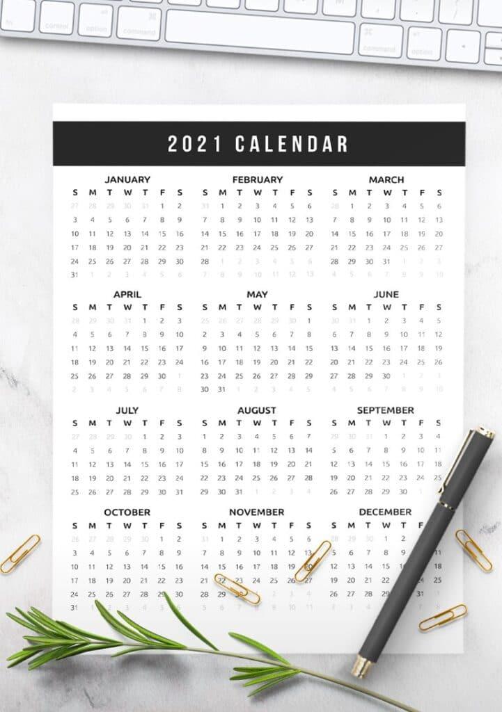Free Printable Calendar 2021 - calendar 9 mockup 1