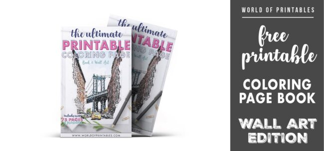 free printable coloring page book wall art edition-01 - WORLDOFPRINTABLES
