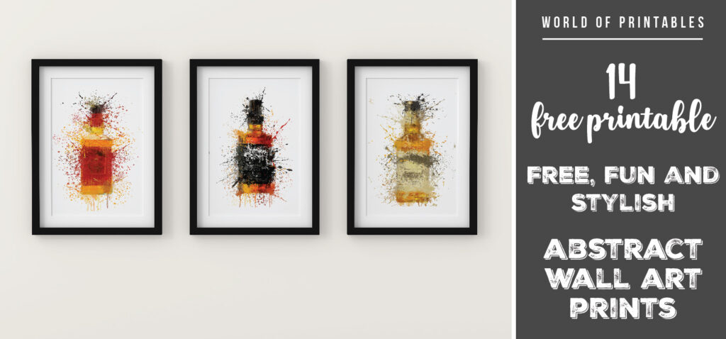 14 free fun and stylish abstract splatter wall art prints