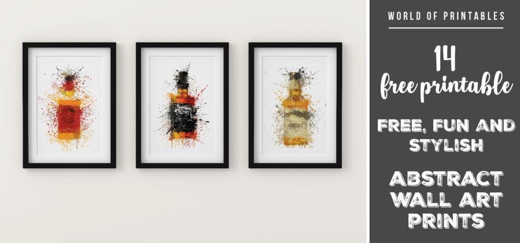 14 free fun and stylish abstract splatter wall art prints