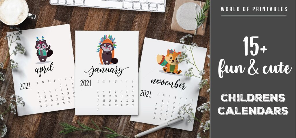 15 fun and cute childrens calendars 2021-01 - WOP