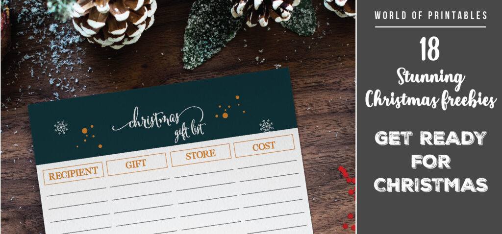 18 Stunning Christmas Freebies To Get You Prepared This Year