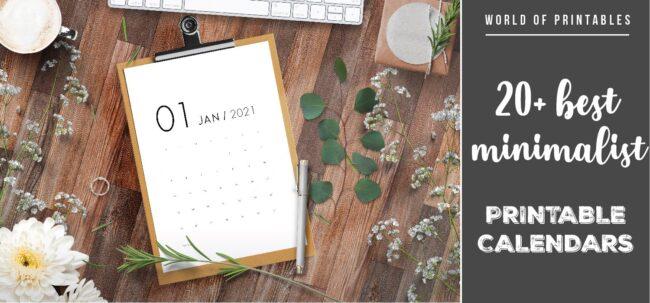 20 perfect minimalist calendars for 2021 printable-01 - WOP