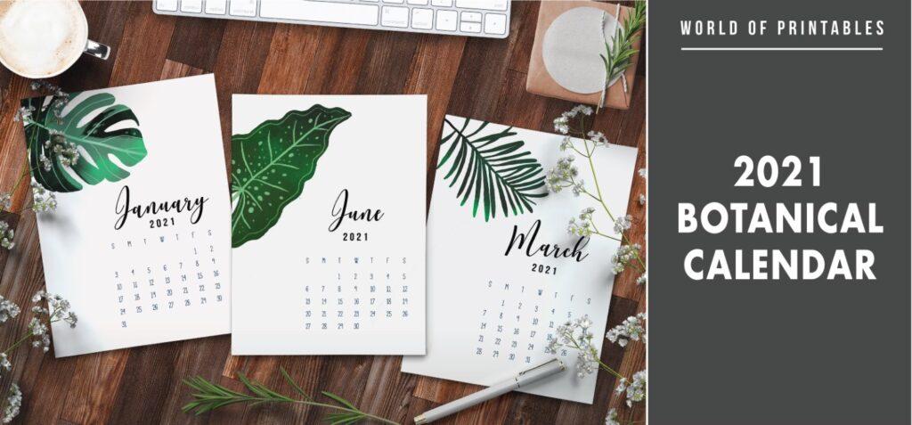 2021 Botanical Calendar