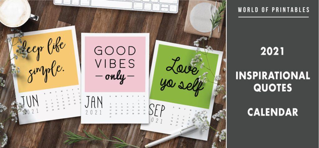 2021 Inspirational quotes calendar