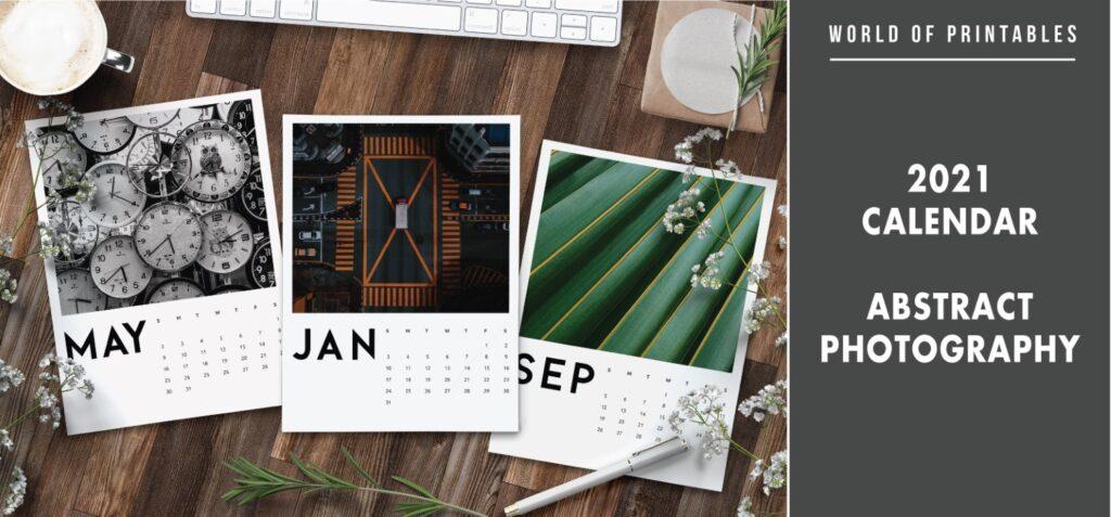 2021 calendar Abstract photography