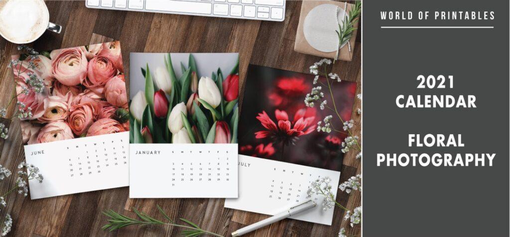 2021 calendar Floral photography
