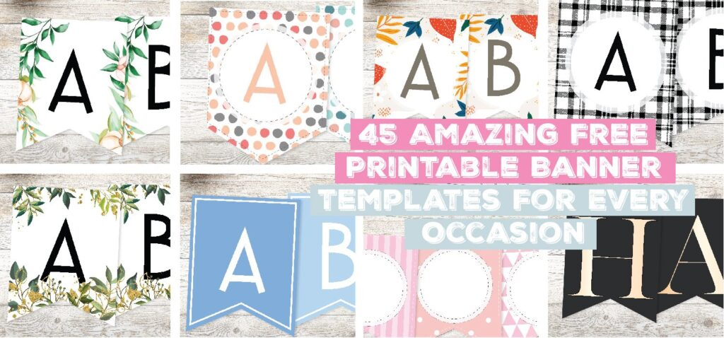 45 Amazing Free Printable Banner Templates For Every Occasion
