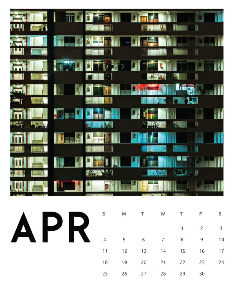April 2021 Calendar Abstract Photography