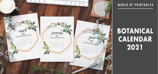 Botanical Calendar 2021
