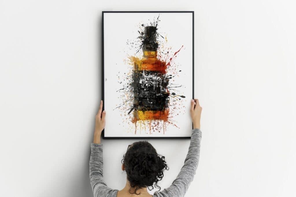 Bourbon Black Label Splash Wall Art