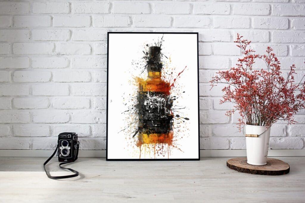 Bourbon Black Label Splash Wall Art 2