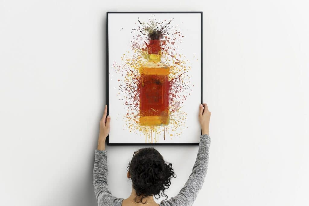 Bourbon Red Label Splash Wall Art
