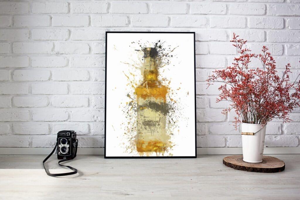 Bourbon Yellow Label Splash Wall Art 2
