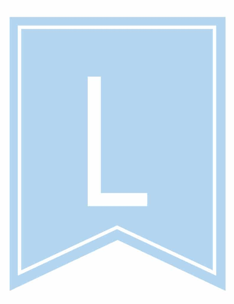 Free Printable boys blue banner letters for baby shower, boys birthday party. Customize these DIY printable banner pennant flags