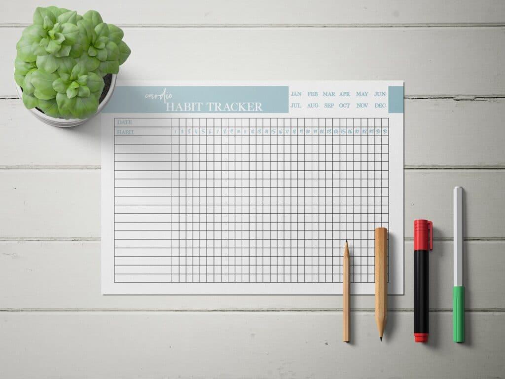Cardio Habit Tracker Mockup 1