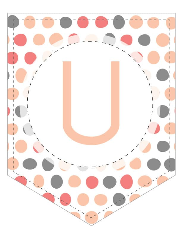 Free Printable Colorful Brushed Polka Dots Banner Letters. These colorful free printable letters for banners are a great DIY to customize a banner for a birthday party, wedding, bridal shower or baby shower.