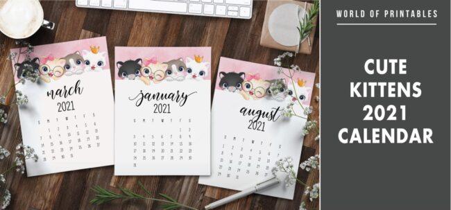 Cute kittens 2021 Calendar