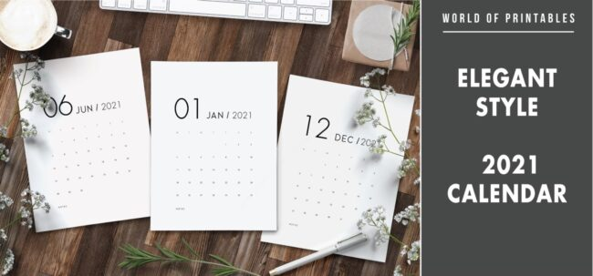 Elegant 2021 Calendar