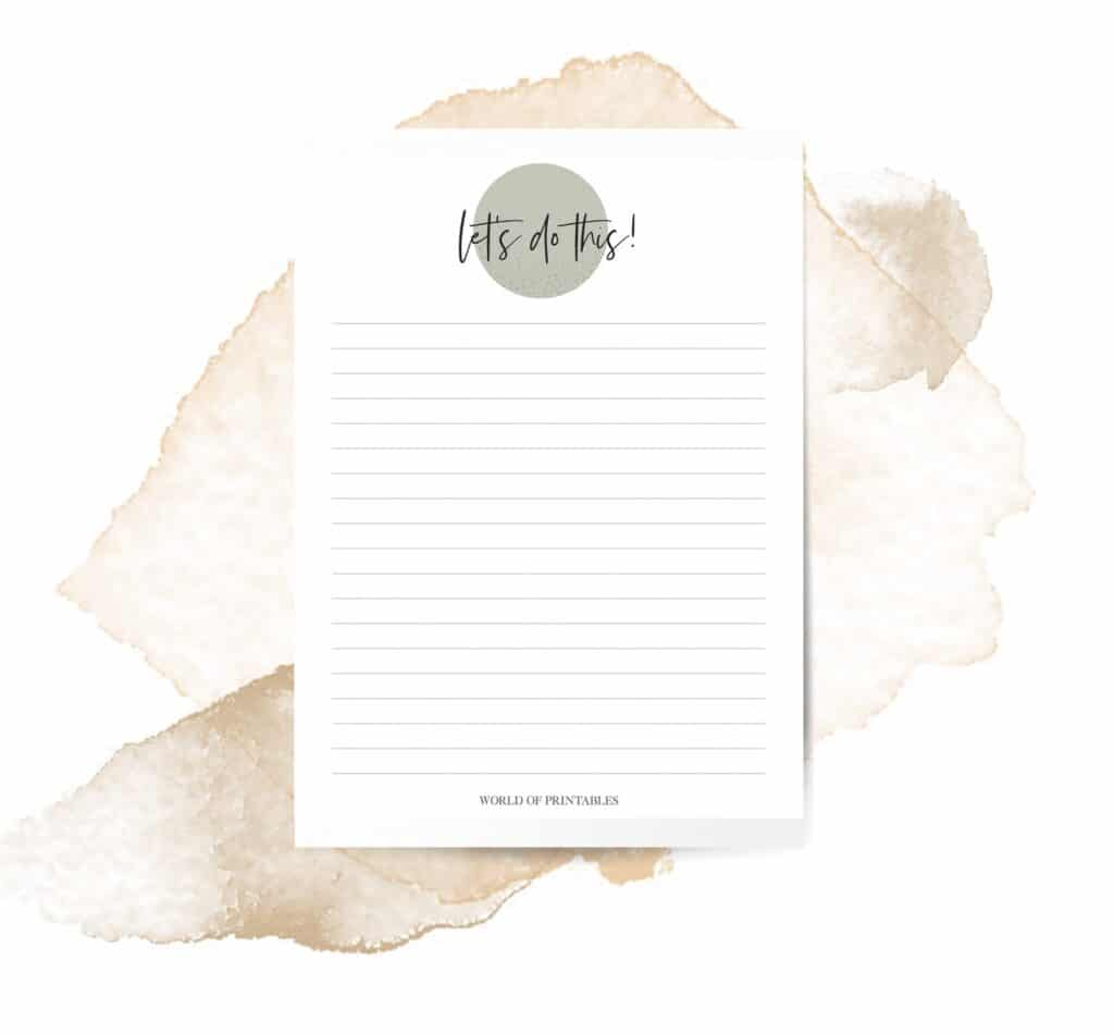 Encouraging To Do List Template
