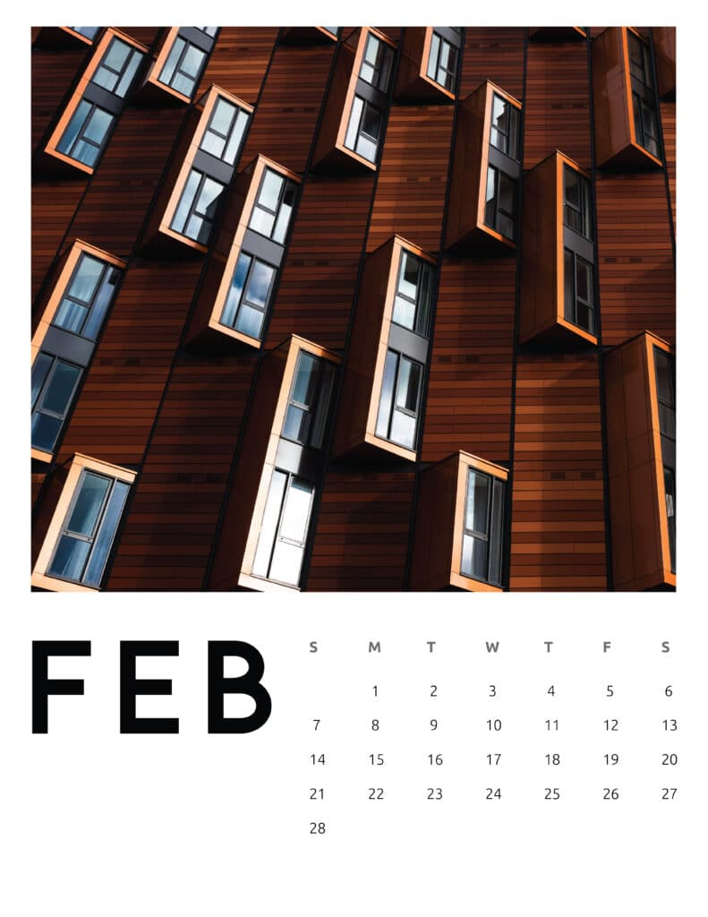 February 2021 Calendar Abstract Photography