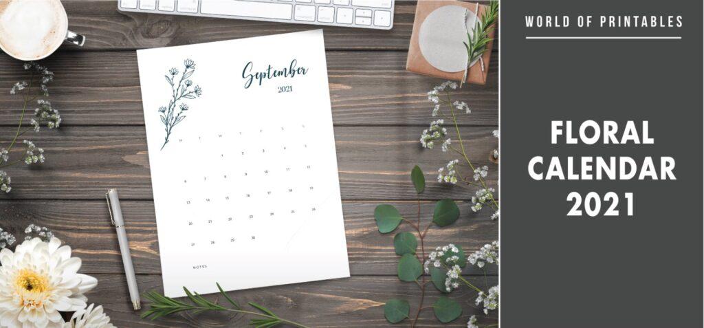 Floral Calendar 2021