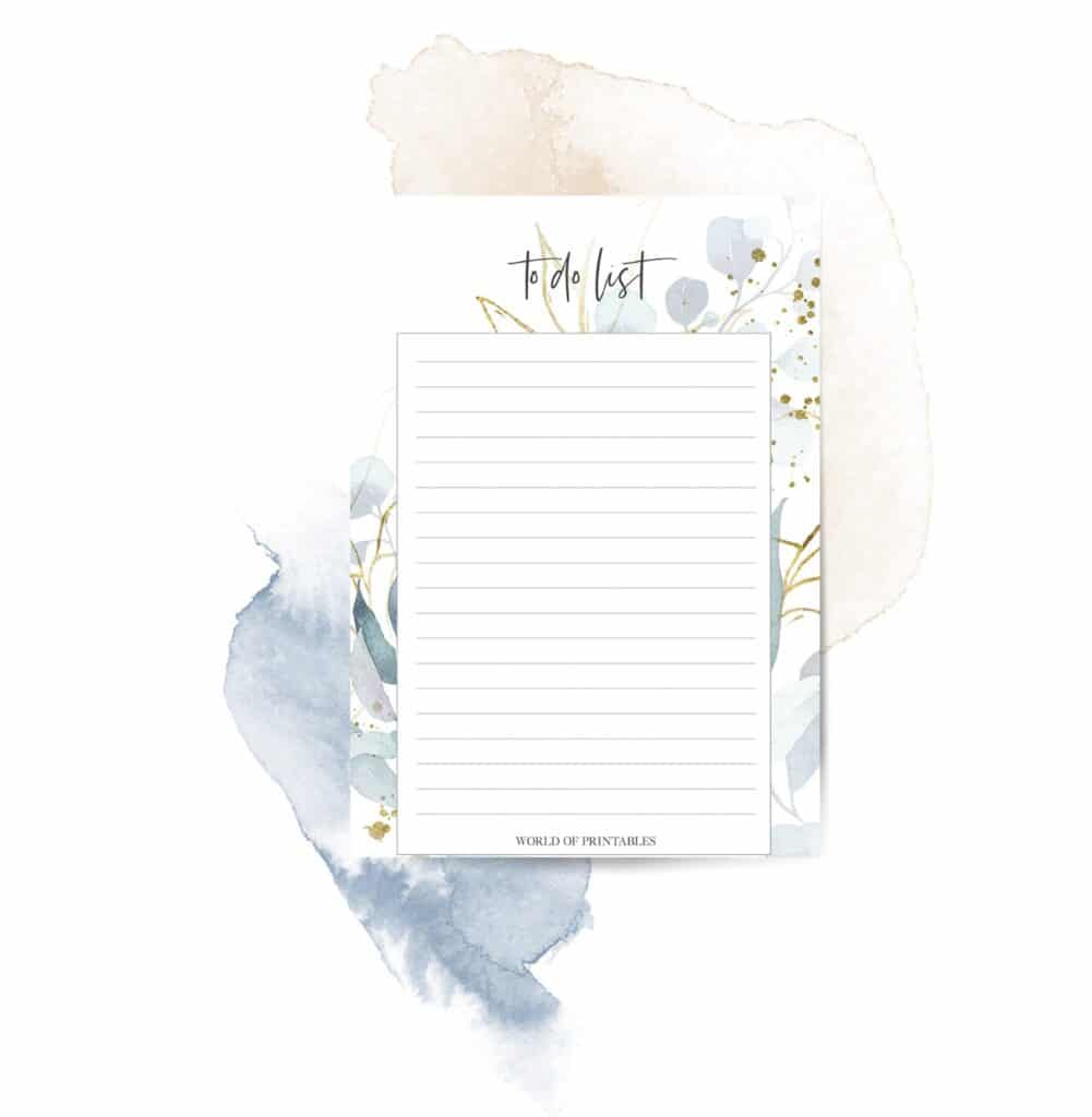 Free printable Floral Frame To Do List
