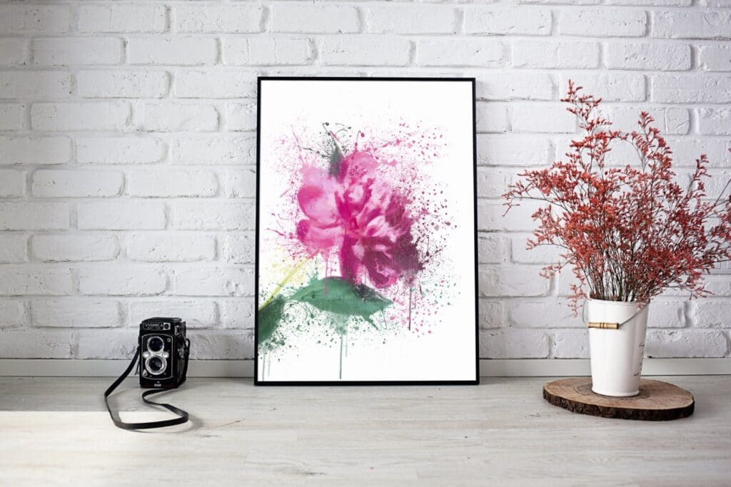 Flower Splash Wall Art 2
