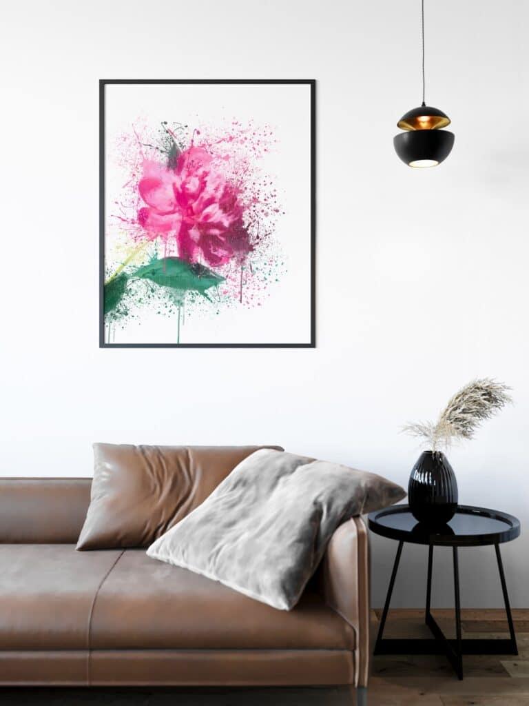Flower Splash Wall Art