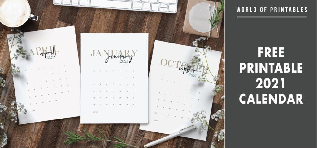 Free Printable 2021 Calendar 2