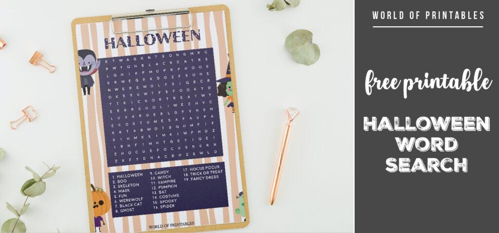 Free Printable Halloween Word Search